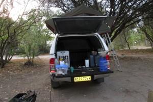 Waar in Botswana het asfalt ophoudt…