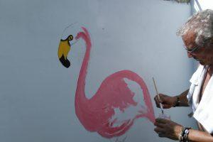De dag dat Jan een flamingo schilderde… en ook nog een leguaan